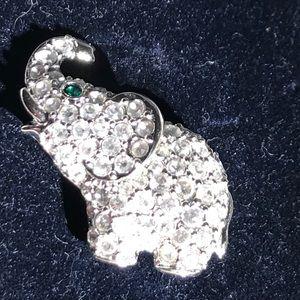 Swarovski elephant crystals pin